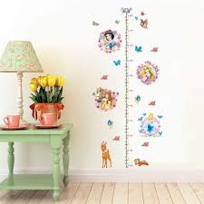 Amazon Com Ufengke Princess Height Charts Wall Stickers Deer Flowers Wall Decals Art Decor For Girls Kids Bedroom Nursery Toys Games