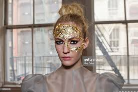 Detail of a model's hair and makeup before the Abigail Stewart Fall... News  Photo - Getty Images