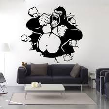 Monkey Wall Decal Monkey Decals Monkey Wall Sticker Gorilla Decal King Kong Poster Gorilla Art Rip Harambe Gorilla Support Haram Monkey Wall Decals Monkey Wall Stickerwall Sticker Aliexpress