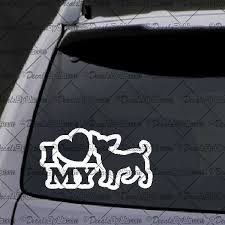 I Love My Chihuahua Decal Truck Window Stickers Car Window Stickers New Cars
