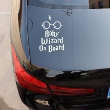 Yjzt 11 2x16 5cm Baby Wizard On Board Body Window Car Sticker Funny Vinyl Decal Accessories C25 0028 Shop The Nation