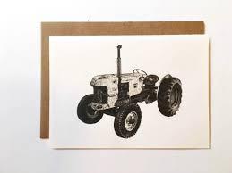 Tractor Tarjeta Simple Hombres Homestead Papeleria Etsy