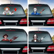 Christmas Halloween Car Rear Window Decoration Decal Sticker Car4 Fast Window Decor Rear Window Window Stickers