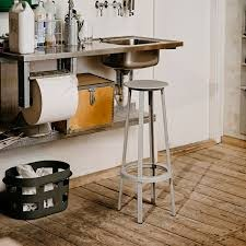 hay revolver bar stool grey finnish