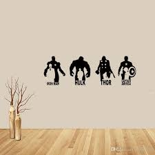 For Marvel Avengers Iron Man Hulk Thor Captain America Vinyl Removable Wall Art Sticker Decal Bedroom Sitting Room Diy Tree Wall Clings Tree Wall Decal From Xymy757 9 05 Dhgate Com