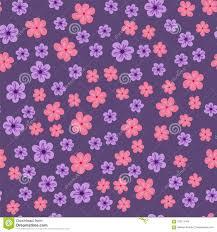 Modelo Inconsutil Abstracto De Flores En Un Fondo Purpura Para Las