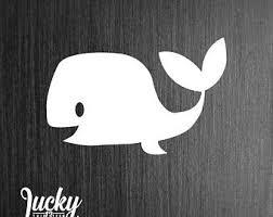 Whale Vinyl Decal Etsy