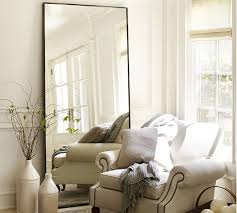 berke oversized iron frame floor mirror