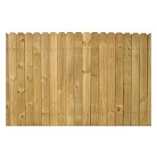 4 Ft X 8 Ft Pine Stockade Wood Fence Panel At Lowes Com