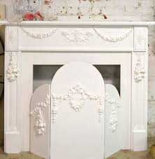painted cottage shabby chic fireplace