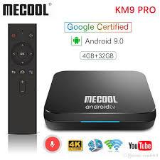 Mecool KM9 PRO KM3 ATV 4G 32G Android 9.0 TV Box Google Certified ...