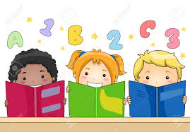 Illustration Of Kids Learning To Read And Write Stock Photo ...