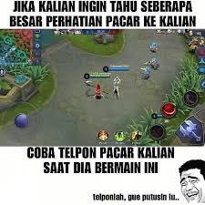 meme mobile legend ini lucunya cuma gamer yang paham