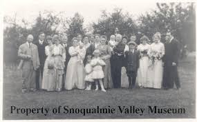 PO.169.0042 - Ada Snyder and Gene Hill Wedding Party. Wedding Bells! Ada  Snyder and Gene Hill. Gardiner Family Group: September 13, 1914. Group of  people outside in yard. All dressed in formal