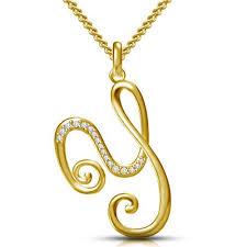 gold y alphabet locket design