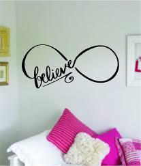 Infinity Believe Wall Decal Sticker Bedroom Room Art Vinyl Home Decor Boop Decals