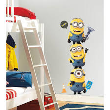 Roommates 5 In X 19 In Despicable Me 2 Minions Giant Peel And Stick Giant Wall Decals Rmk2081gm The Home Depot