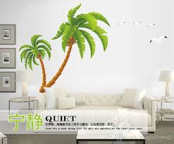 Extra Large Coconut Tree Ocean Birds Wall Sticker Diy Home Decoration Wallpaper Poster Decorative Wall Applique Decal Living Room Wall Decor Wall Word Stickers Wallpaper Decal From Magicforwall 12 06 Dhgate Com