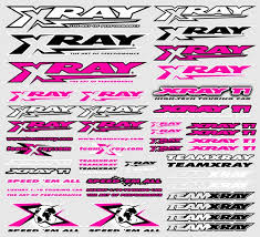 Xray Decals For Body Neon Red X397314 Xray T1 T2 T3 T4 Parts Xray The Border Online Rc Shop