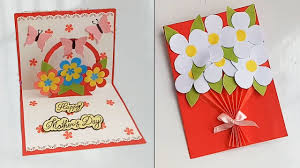 Handmade Mother's Day card /Mother's Day pop up card making idea... -  YouTube
