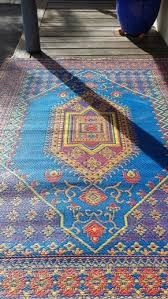 recycled plastic outdoor rug with