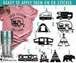 Camping Life Is Better Around The Camp Fire Camper Car Vinyl Decal Sticker Tent