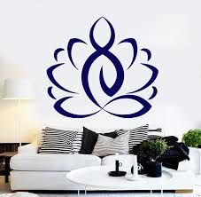 Wall Sticker Vinyl Decal Lotus Yoga Meditation Buddhism Murals Unique Wallstickers4you