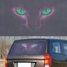 3d Transparent Car Back Rear Window Decal Vinyl Sticker Horror Monsters Blue Eye Ebay