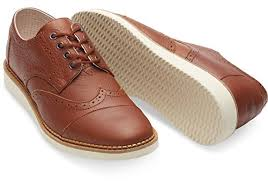 toms brogues brown full grain leather