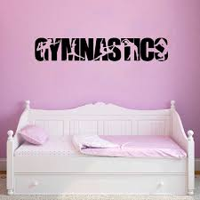Gymnastics Vinyl Wall Art Sticker Decals Girls Bedroom Wall Decor Gymnast Silhouette Decal For Car Decoration Wall Stickers Aliexpress