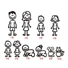 Family Car Sticker Father Mother Sons Daugther Dog Cat Car Rear Window Sticker Diy Figure Decal Pet Waterproof Car Accessories Car Stickers Aliexpress
