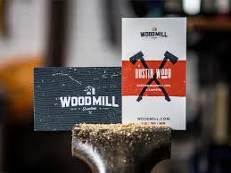 Dustin Wood Business Card | Business Card Design Inspiration