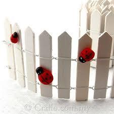Miniature Wooden White Fence Crafio Com My