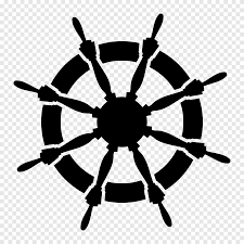 Ship S Wheel Anchor Wall Decal Symmetry Navy Blue Png Pngegg