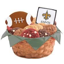 nfl new orleans saints cookie basket