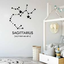 Zodiac Wall Sticker Home Decor Living Room Sagittarius Vinyl Wall Decals Teen Girls Bedroom Removable Art Decal Mural S094 Stickers Home Decor Vinyl Wall Decalswall Sticker Aliexpress
