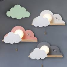Mega Discount C931 Children Led Wall Lamp For Bedroom Glass Lampshade Cloud Metal Cartoon Boys Bedside Lighting Kids Room Girls Wall Sconce Cicig Co