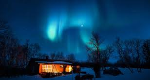 norway winter northern lights by g