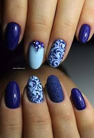 Pin by Ivy Griffin on Nails | Nail designs, Blue nail art, Trendy nails
