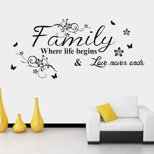 Modern Home Decor Decals Family Where Life Begin Quotes Wall Sticker Vinyl Character Quotes Living Room Decals Bd 4 Wall Sticker Quote Wall Stickerhome Decor Aliexpress