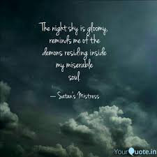 the night sky is gloomy quotes writings by aakanksha