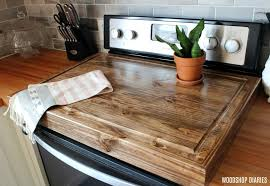 make a diy wooden stove top cover and