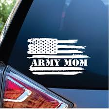 Army Mom Weathered Flag Decal Sticker Midwest Sticker Shop