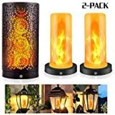 Led Flame Effect Fire Lights Black Magnetic Candle Light With Upside Down Effect Flame Bulbs For Party Wedding Home Garden Yard Decoration 2 Pack Amazon Com