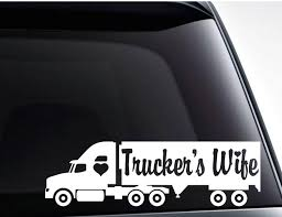 Trucker S Wife Vinyl Decal Sticker Cute Car Decal For Etsy In 2020 Cute Car Decals Truckers Wife Car Decals