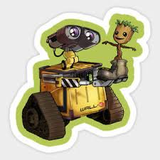 Wall E I Am Groot Best Friends Disney Vinyl Decal Room Decor Laptop Sticker Ebay