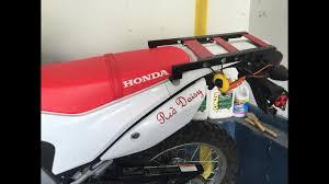 homemade dualsport cargo rack you