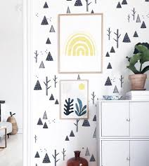 Winter Mountains And Trees Decals Wall Decals The Lovely Wall Company