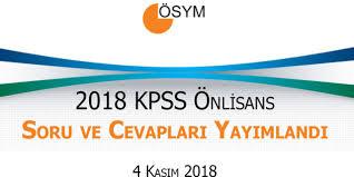 KPSS Önlisans Soru ve Cevapları Yayımlandı! 2018 ÖSYM