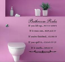 Bathroom Rules Wall Quotes Vinyl Sticker Home Diy Decor Wall Stickers Decal Ebay